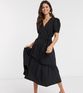 https://www.asos.com/asos-design/asos-design-v-neck-tiered-midi-dress-with-belt-in-black/prd/14874439?clr=&colourWayId=16650967&SearchQuery=midi%20dress